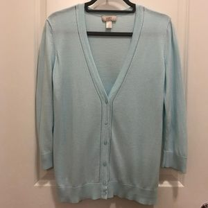 Light Blue V-Neck Cardigan